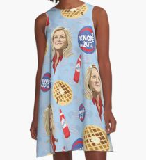 What's Important: Friends, Waffles, and Work  A-Line Dress