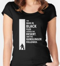 The Dark Tower Desert white Women's Fitted Scoop T-Shirt