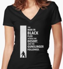 The Dark Tower Desert white Women's Fitted V-Neck T-Shirt