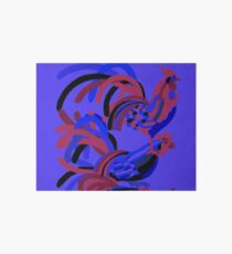 Rooster Abstract Art Blue iPad Cover Art Board