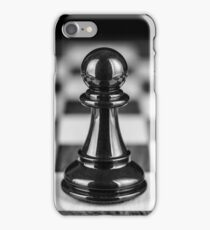 The black pawn solitaire  iPhone Case/Skin