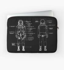 NASA Astronaut Launch Suit Line Drawing Black Version Laptop Sleeve