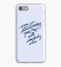 somebody else iPhone Case/Skin