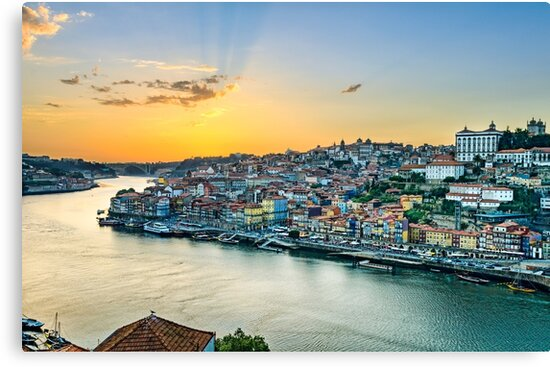 Sunset in Porto, Portugal by Michael Abid