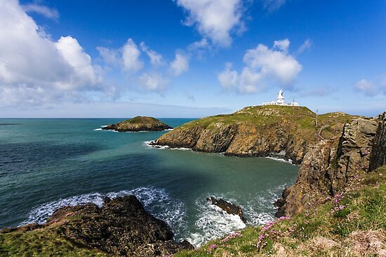 Strumble Head Lighthouse in Spring, Pembrokeshire  by Heidi Stewart