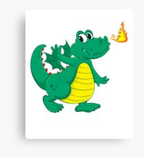 Happy Luck Dragon Canvas Print