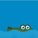 Crocodile iPhone case by Mark Walker