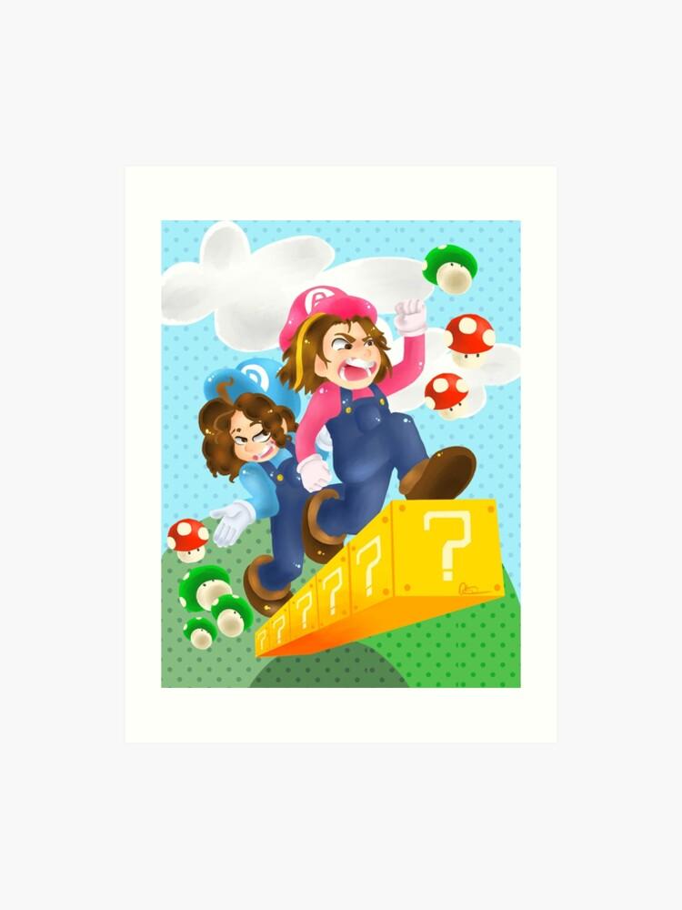 Game Grumps Super Mario World Background Version Art Print