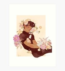 Phichit + Flowers + Hamsters Art Print