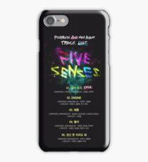 PENTAGON - Five Senses (Tracklist) iPhone Case/Skin