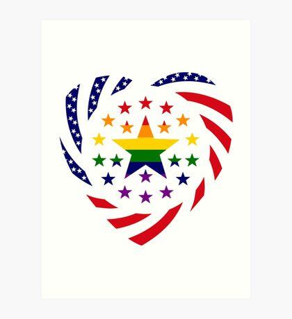 Love is Love American Flag 2.0 (Heart) Art Print