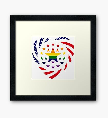 Love is Love American Flag 2.0 (Heart) Framed Print