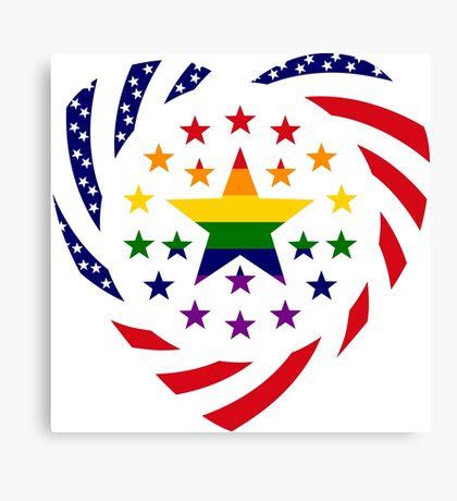 Love is Love American Flag 2.0 (Heart) Canvas Print