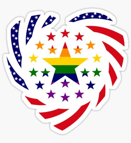 Love is Love American Flag 2.0 (Heart) Sticker