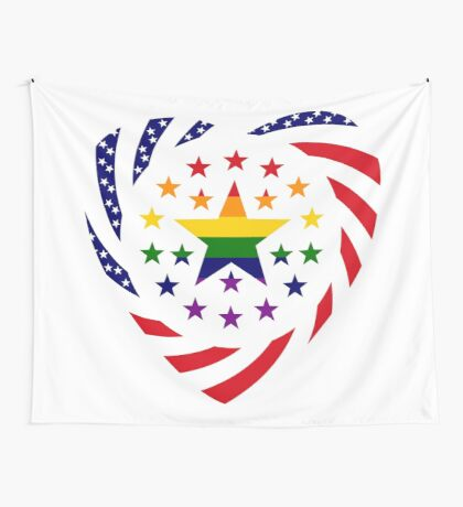 Love is Love American Flag 2.0 (Heart) Wall Tapestry