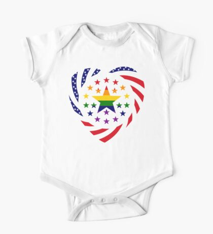 Love is Love American Flag 2.0 (Heart) Kids Clothes