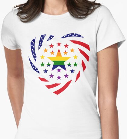 Love is Love American Flag 2.0 (Heart) T-Shirt