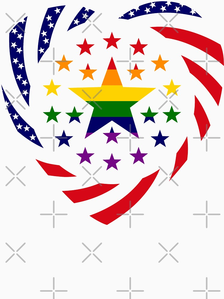 Love is Love American Flag 2.0 (Heart) by carbonfibreme