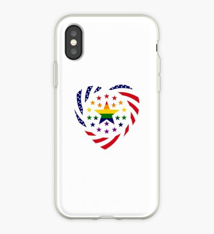 Love is Love American Flag 2.0 (Heart) iPhone Case