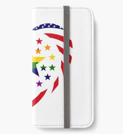 Love is Love American Flag 2.0 (Heart) iPhone Wallet