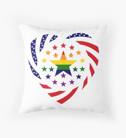 Love is Love American Flag 2.0 (Heart) Throw Pillow