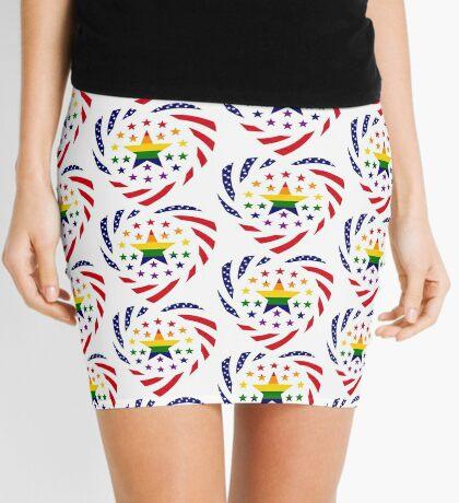 Love is Love American Flag 2.0 (Heart) Mini Skirt