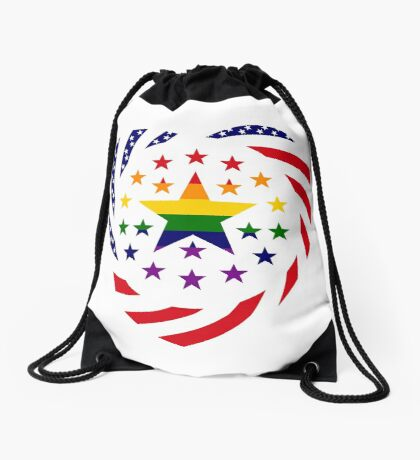 Love is Love American Flag 2.0 (Heart) Drawstring Bag