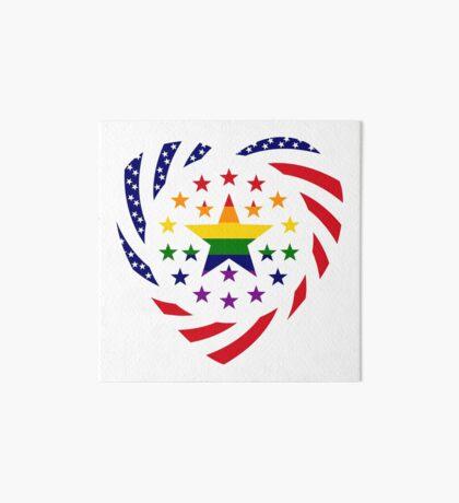 Love is Love American Flag 2.0 (Heart) Art Board Print