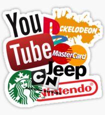 Logo Sticker Mashup Collage  Sticker