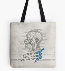 Speech Language Pathology Antique Anatomy Tote Bag