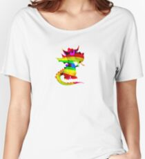 Rainbow Draco the Dragon  Women's Relaxed Fit T-Shirt