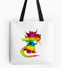 Rainbow Draco the Dragon  Tote Bag