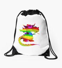 Rainbow Draco the Dragon  Drawstring Bag