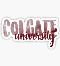 Colgate Brush Script Sticker