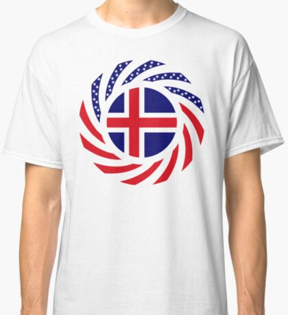 Icelandic American Multinational Patriot Flag Series Classic T-Shirt
