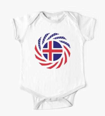 Icelandic American Multinational Patriot Flag Series Kids Clothes
