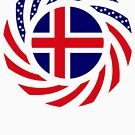 Icelandic American Multinational Patriot Flag Series by Carbon-Fibre Media