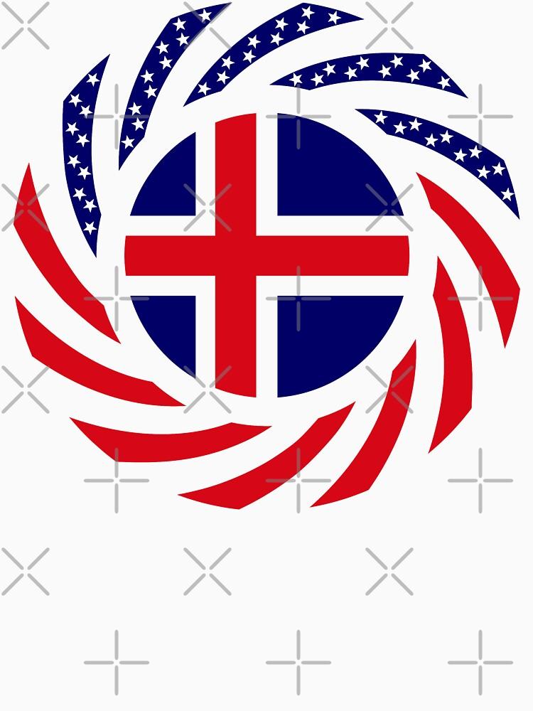 Icelandic American Multinational Patriot Flag Series by carbonfibreme
