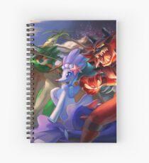 Alolan starters: Decidueye, Primarina, Incineroar Spiral Notebook