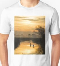 Swans and Pevensey Levels Dawn T-Shirt