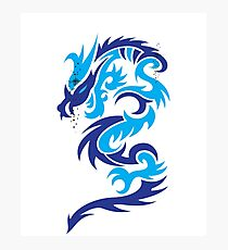 Blue dragon design  Photographic Print