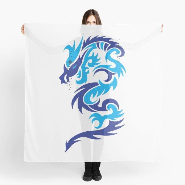 Blue dragon design  Scarf