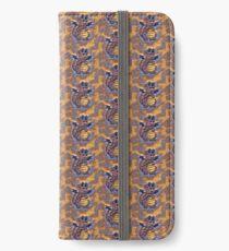 Purples in Pattern Happy Sweet Dragon iPhone Wallet/Case/Skin