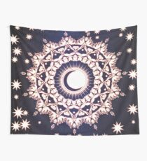 Sun Moon & Stars Glowing Mandala Wall Tapestry