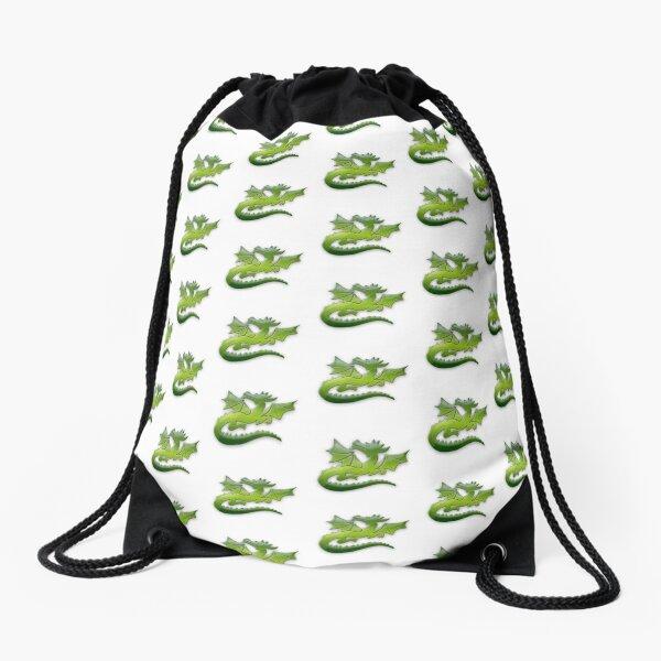 Green flying Dragons Drawstring Bag