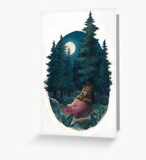 Lovely, Dark, and Deep Greeting Card