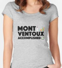 Mont Ventoux Accomplished Cycling Tour De France Women's Fitted Scoop T-Shirt