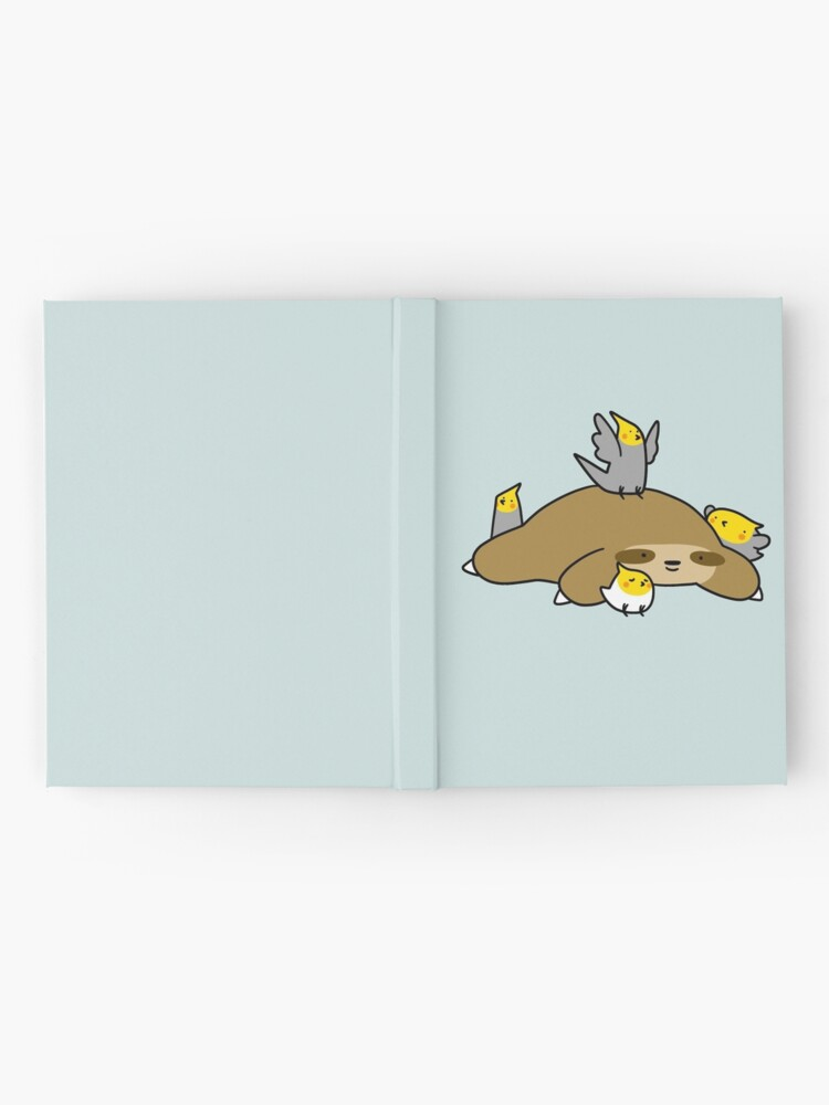 Alternate view of Sloth and Cockatiel Hardcover Journal