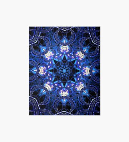 """On the Edge of Bliss"" (Blue Tones) - Geometric Abstract Mandala  Art Board"
