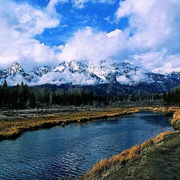 Teton Range Over Snake River, Grand Teton National Park by DanielleDodds